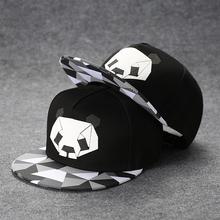 嘻哈帽男潮百搭韩款街头熊猫ch10子女平ins潮牌潮流鸭舌帽