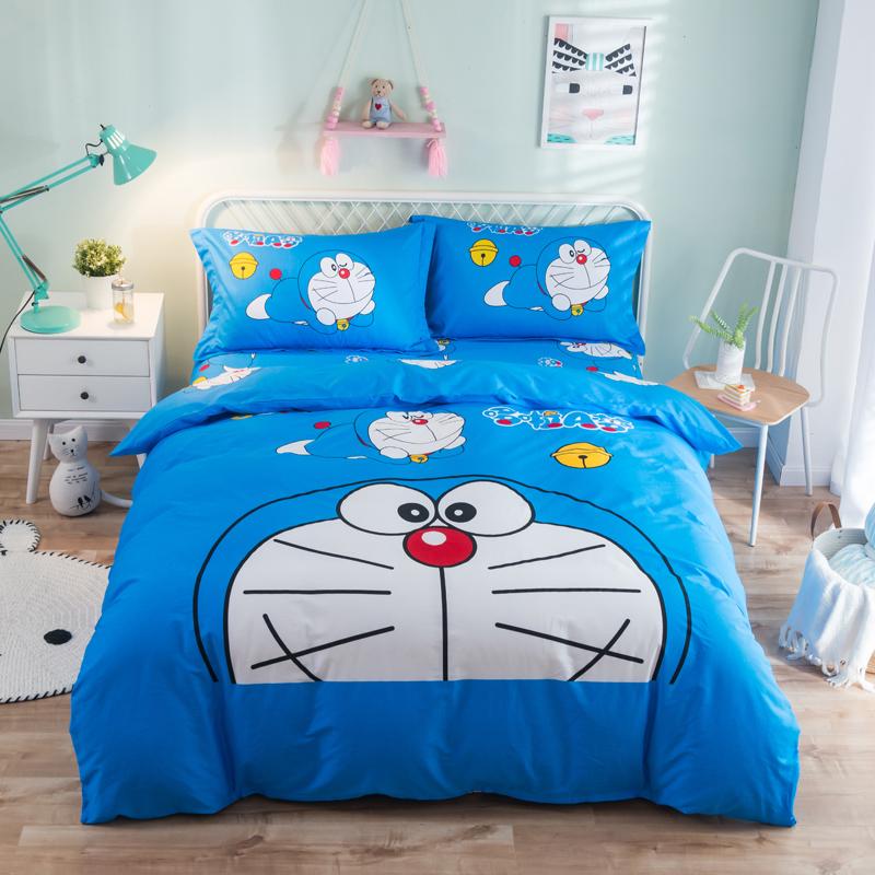 纯棉卡通床上用品四件套床笠全棉儿童男孩女孩床单人被套三4件套3