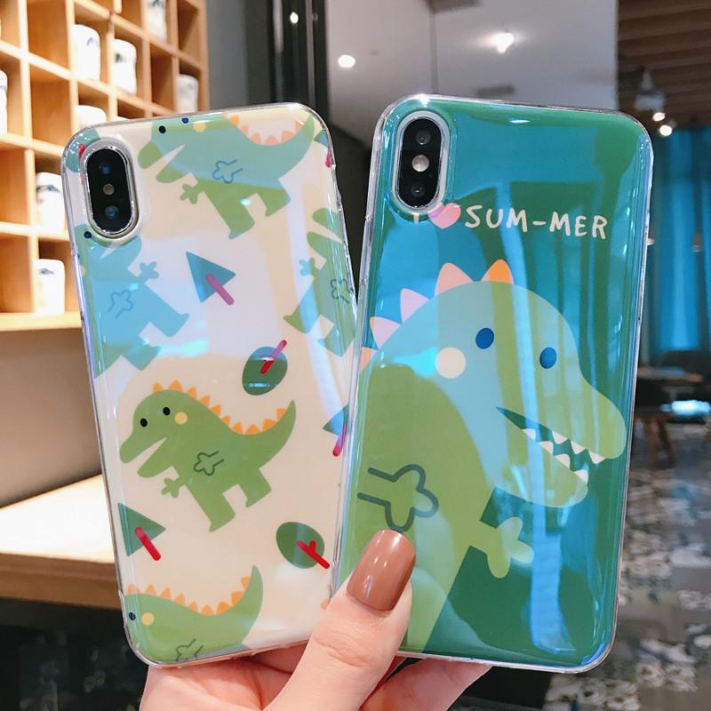 绿色小恐龙VIVOX9s手机壳x20/x27蓝光x21情侣硅胶x23幻彩版可爱y66/y81s/y97/y93卡通女款y85/z3/z1i/z5x网红