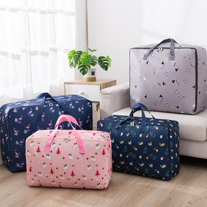 Cotton quilt storage bag Oxford cloth clothing finishing bag thicker clothes moving packing bag luggage bag