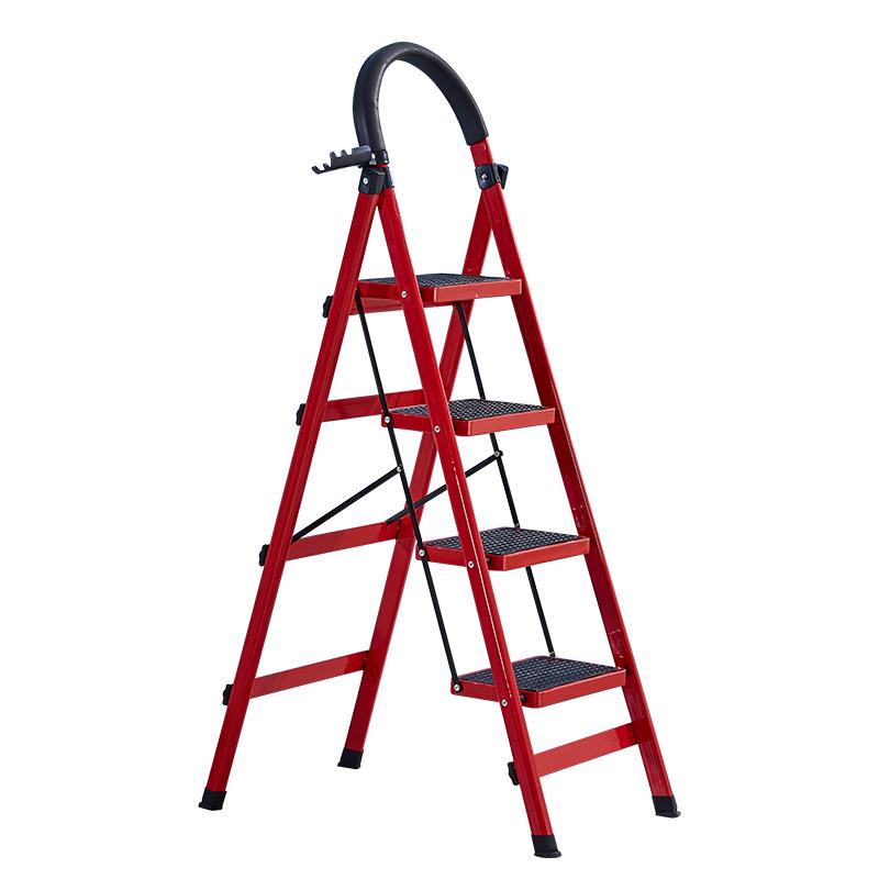 梯子家用折叠梯加厚多功能人字梯爬梯伸缩楼梯四步五步梯室内扶梯