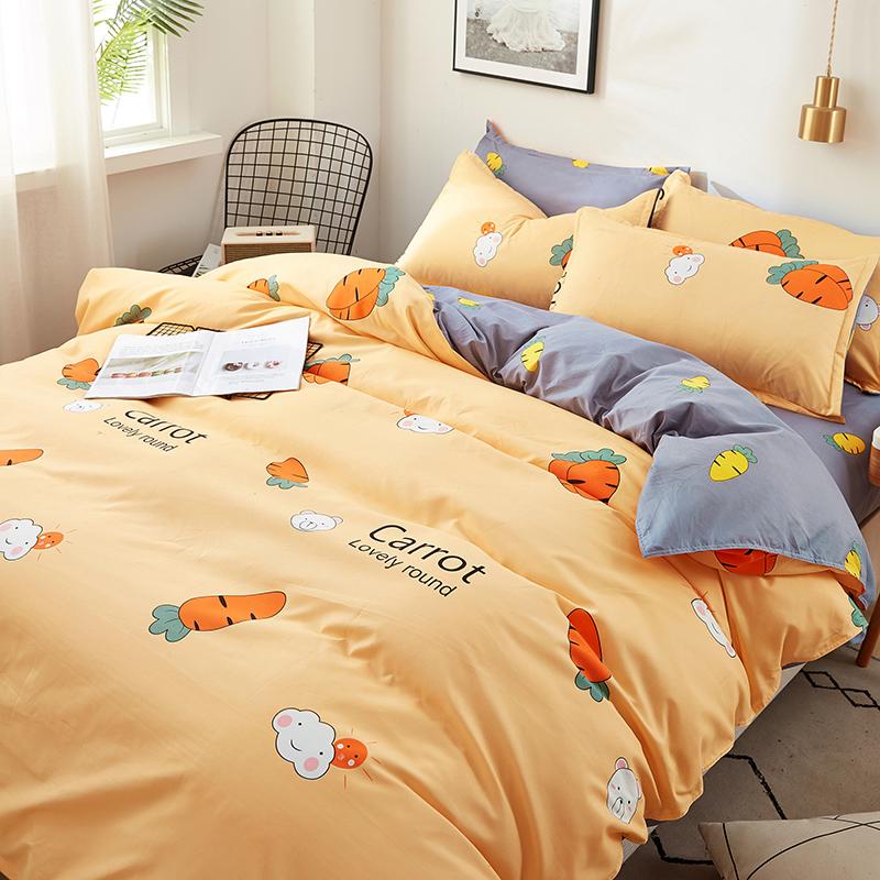 点击查看商品:网红款水洗棉四件套学生宿舍床单被套单人被子被罩床上用品三件套