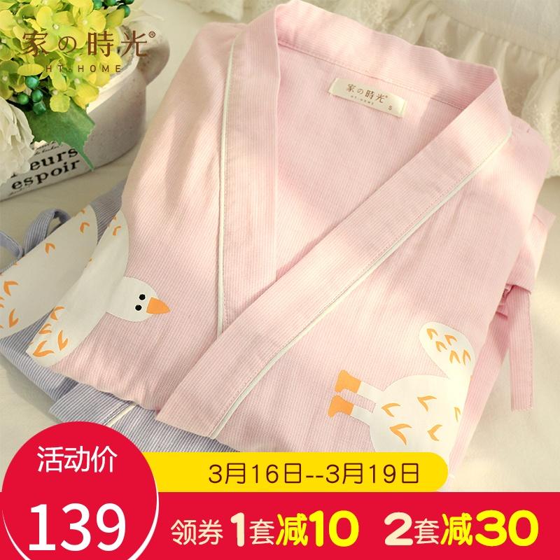 孕妇哺乳睡衣女春夏纯棉纱布薄款产后月子服怀孕期喂奶家居服套装