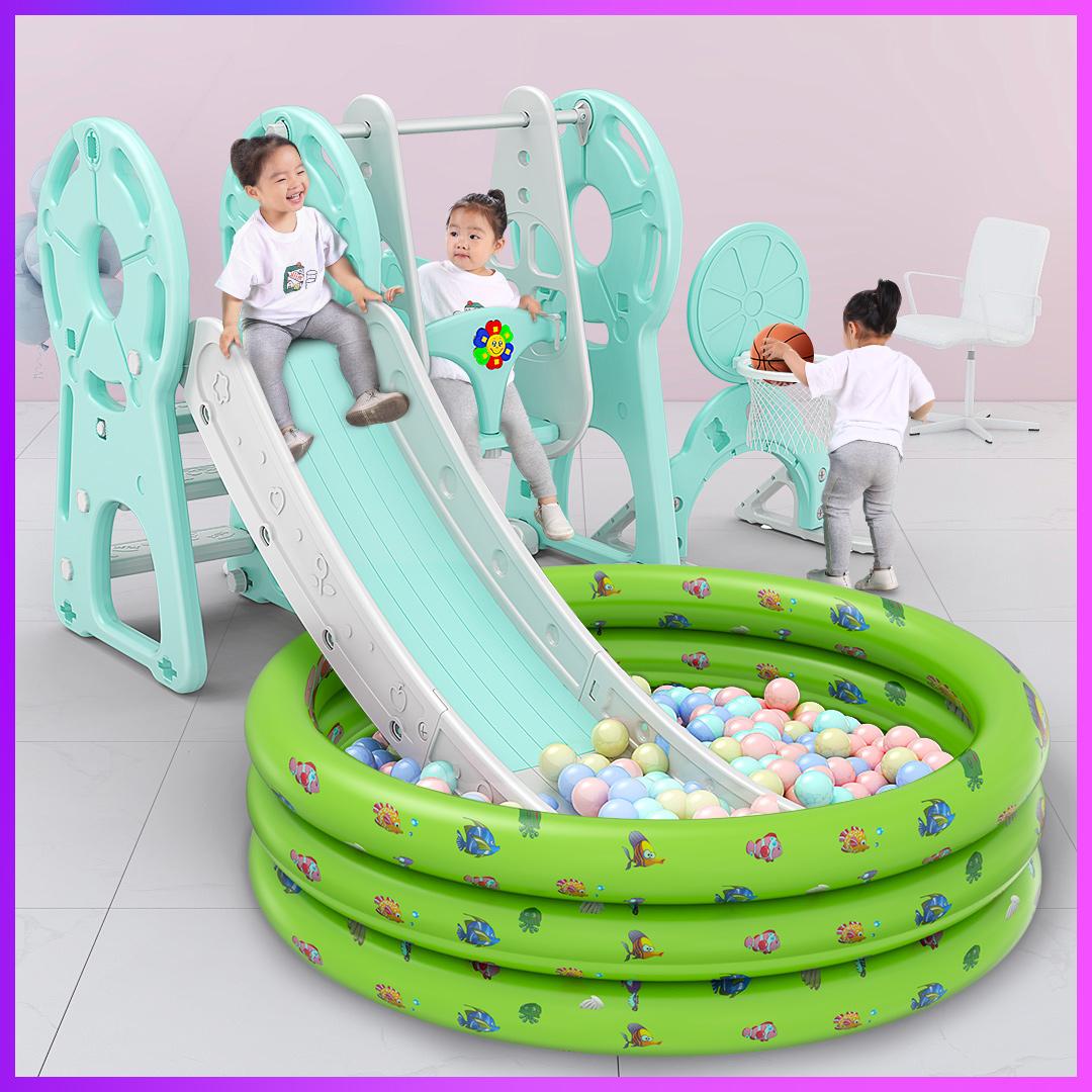 宝宝滑滑梯儿童室内家用小型婴儿秋千组合小孩幼儿大型玩具游乐场图片