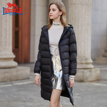 龙狮戴尔新式冬季女士be7绒服中长dx瘦保暖外套234421557