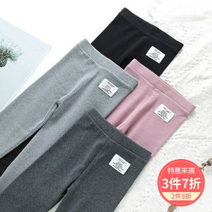 Children's leggings spring and autumn foreign style sports pants girls wear cotton boys medium thick baby thin section casual trousers