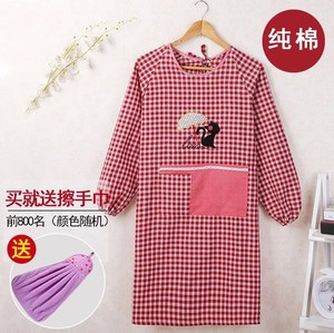 Cooking clothes washing dishes kitchen apron plus sleeves household waterproof all-inclusive thickening mom bib waist