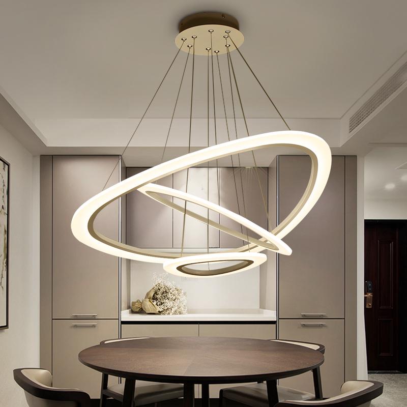 创意圆形餐厅吊灯 个性环形大气后现代客厅灯具温馨艺术吧台吊灯