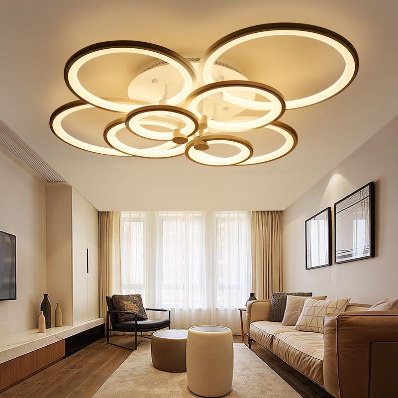 后现代客厅灯具简约现代led吸顶灯艺术创意北欧大气家用卧室灯饰