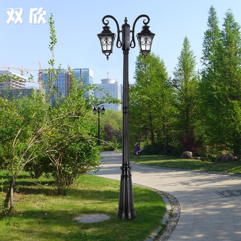 欧式复古草坪灯别墅花园草地灯铝材防锈路灯杆小区户外防水景观灯