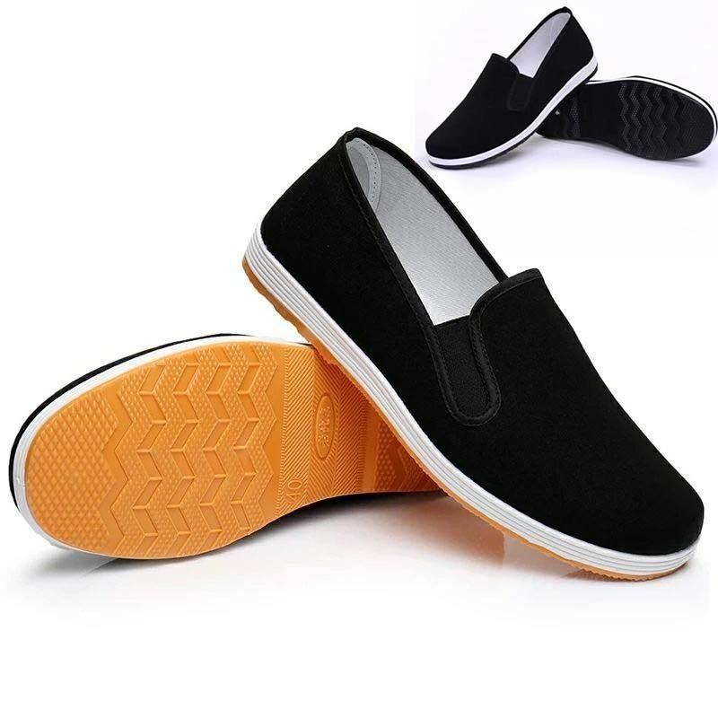 新款轻便老北京布鞋男四季休闲板鞋工作鞋中老年防滑司机男女单鞋