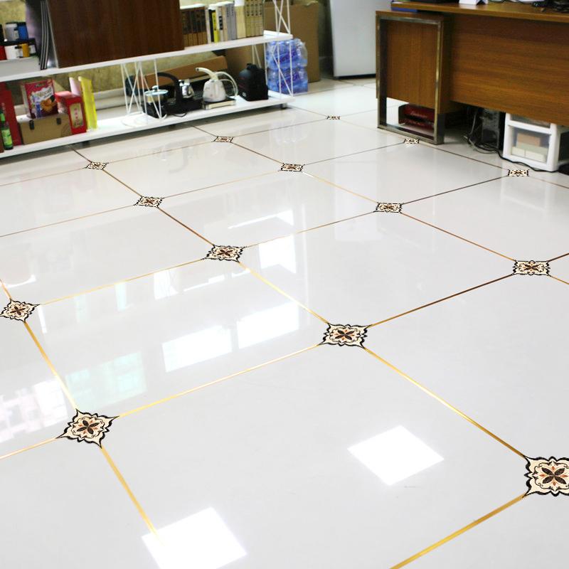 地面瓷砖装饰线条美缝贴纸防水耐磨自粘客厅地板贴地砖贴花对角贴