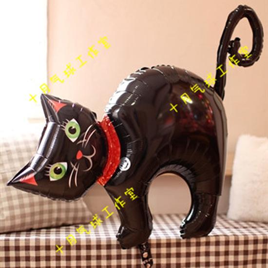 万圣节场地装饰铝膜气球鬼节南瓜蝙蝠黑猫酒吧装饰气球氦气球布置