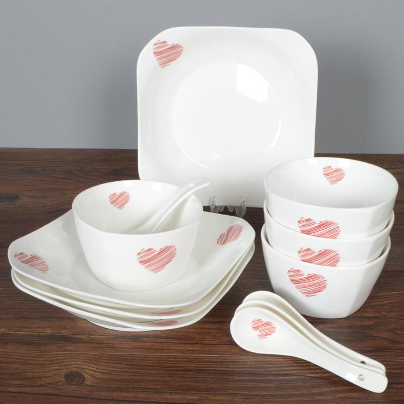 碗碟 套装 家用 陶瓷 餐具 碗盘 碗筷 盘子 简约 创意 饭碗