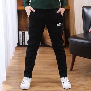 Boys' sports pants spring and autumn models in the big children autumn and winter casual trousers 12 boys pants plus velvet 15 years old children's pants