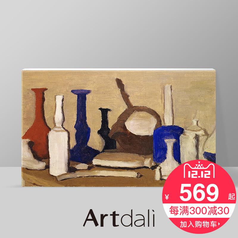 意大利艺术家名画 新古典客厅书房油画办公室装饰画 莫兰迪-静物