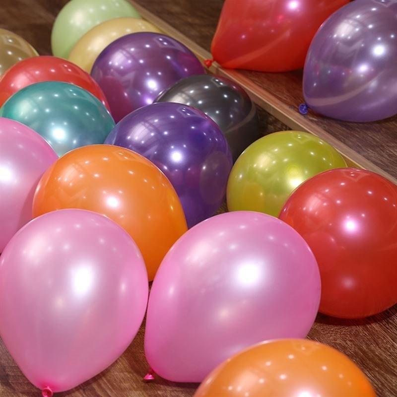 圆形珠光||加厚|气球/混色|拱门|汽球|100个装/ 气球 批�l