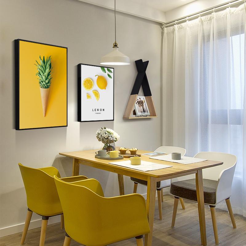 北欧风餐厅装饰画ins挂画饭厅墙壁墙面装饰创意组合现代简约壁画