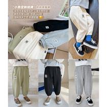 男童休闲裤2021秋装新款韩版宝宝运动长裤子中小童宽松洋气小脚裤