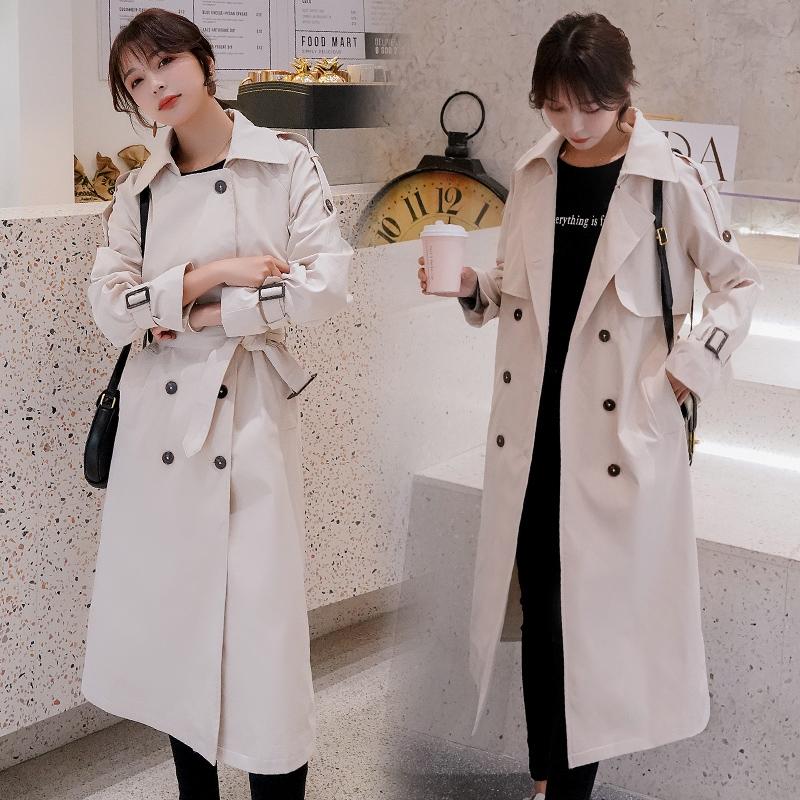 2020春装新款风衣长款benhiwa韩版英伦风外套复合品质 P190-朵朵美品会-