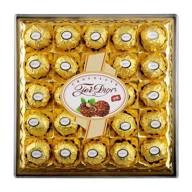 菲顿年货巧克力礼盒装团购喜糖零食情人圣诞节生日送女友礼物好吃