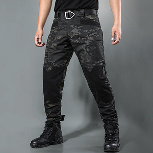 Autumn and winter locomotive special forces camouflage tactical military pants male outdoor overalls wear-resistant nylon army fan training clothing