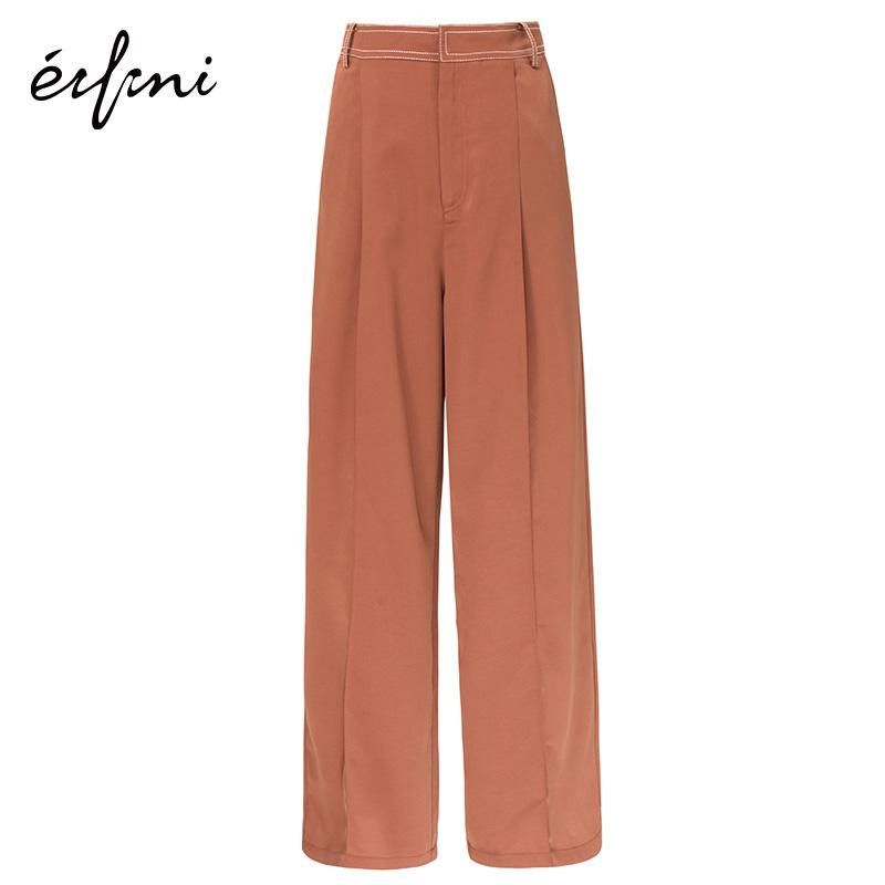 【商场同款】伊芙丽雪纺裤子直筒宽松休闲裤女1180423350481