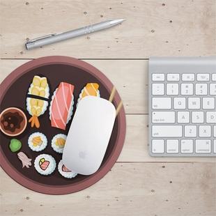 萝卜粽防水鼠标垫锁边可爱创意加厚寿司日系个性防滑鼠垫圆形小号