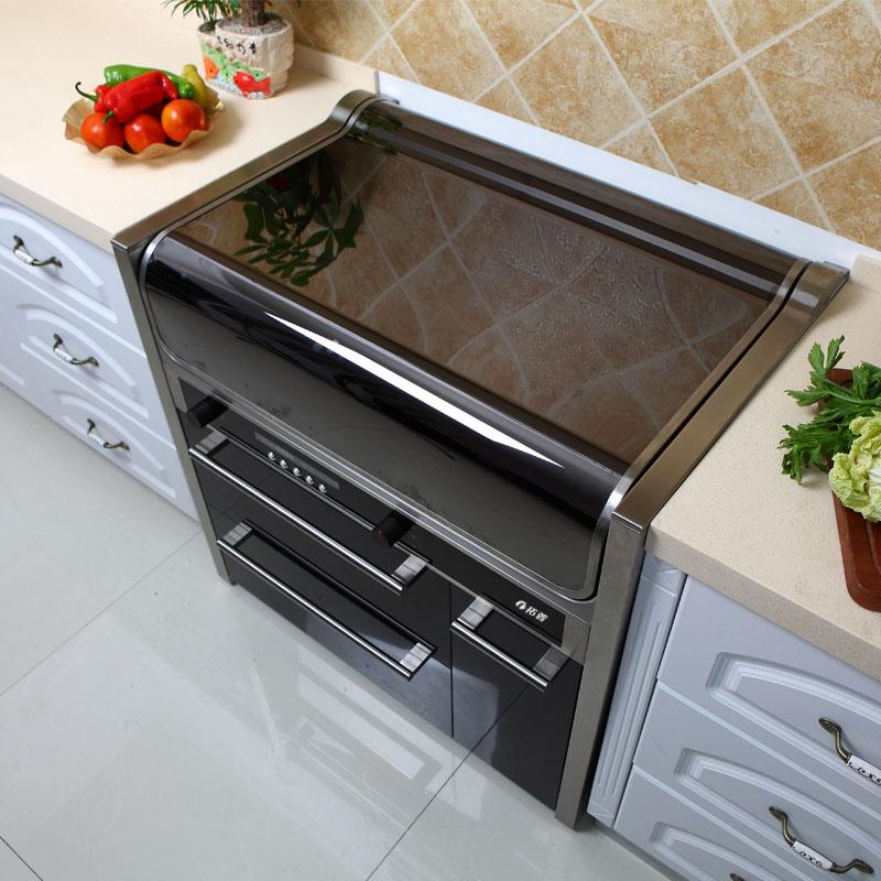 拓普T8集成灶翻盖双电机自动清洗下排式电磁炉蒸烤箱一体灶油烟机