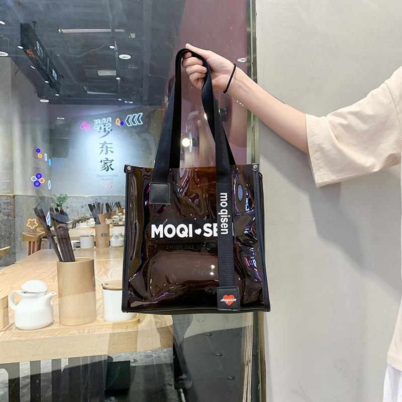 包包女包女士包包2020新款时尚大容量透明果冻包托特手提包百搭in满24元减3元