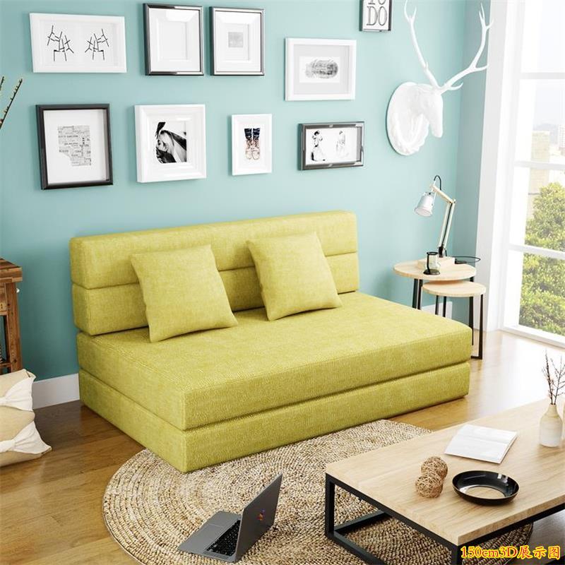 懒人沙发床榻榻米可折叠单人双人两用阳台卧室客厅小户型多功能椅