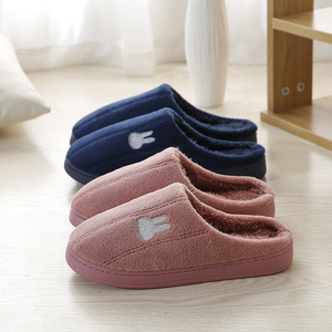 Cute embroidered cartoon warm winter cotton slippers