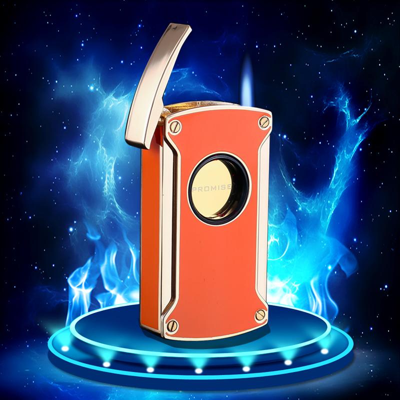 百诺充气打火机触摸感应电子点火雪茄火机蓝焰防风烟具潮lighter
