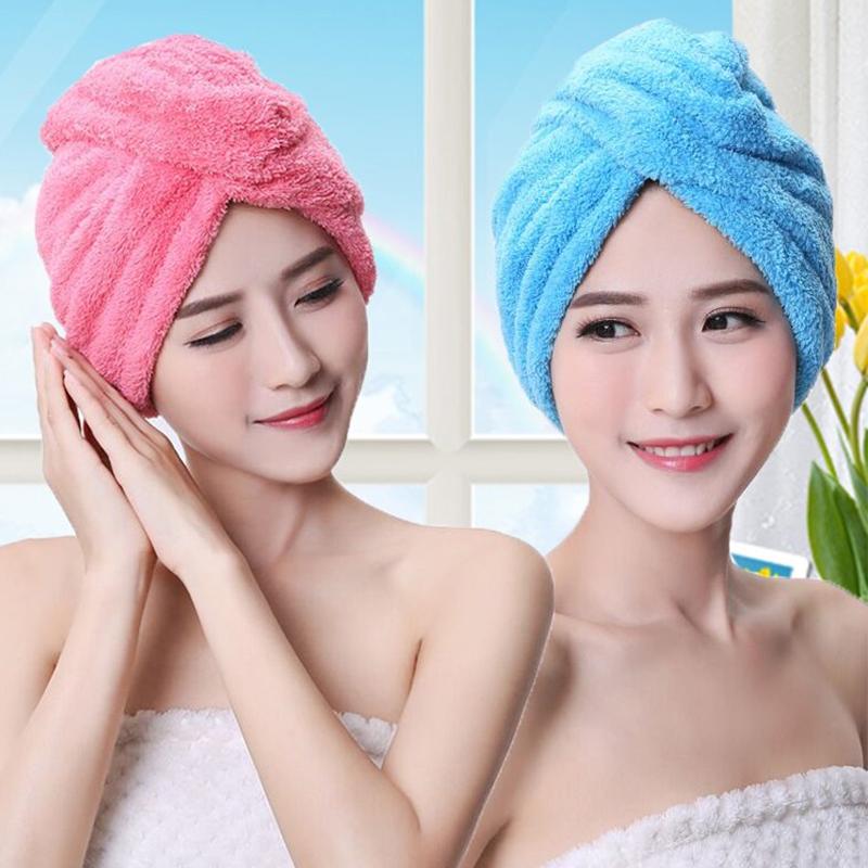超强吸水干发帽女吸水速干加厚浴帽擦头发毛巾干发巾洗包头三角巾