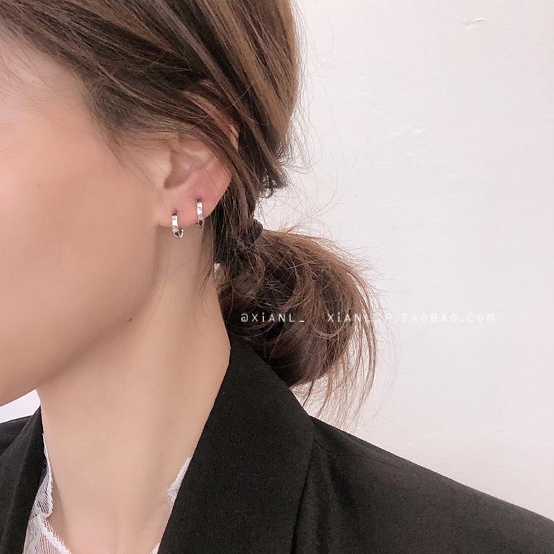 简约女小巧耳钉2019新款潮网红个性耳扣韩国冷淡风高级感耳环气质图片