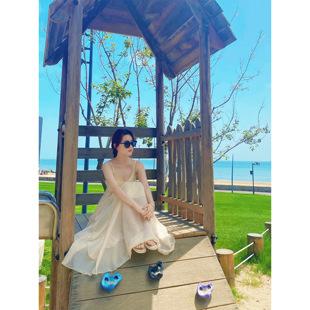 康康海边度假bi备的2021夏季仙女裙