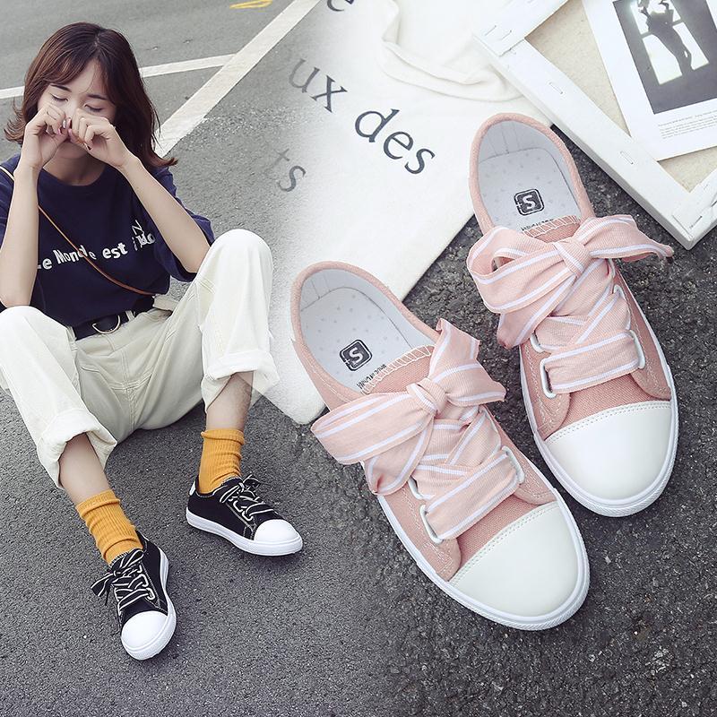 小白鞋女夏季2018新款百搭学生韩版原宿风ulzzang透气帆布板鞋子