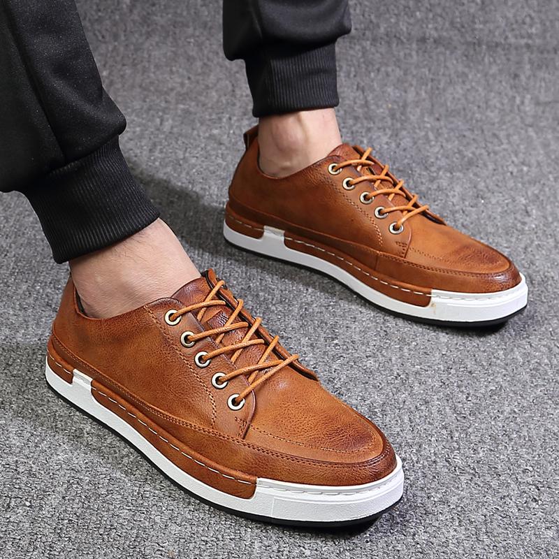 男士特大码脚宽板鞋45韩版鞋子46夏季皮鞋47运动休闲鞋透气男鞋48