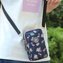 手机包女斜fj2(小)包包新070夏天装手机袋帆布迷你挂脖放零钱包竖