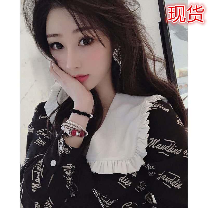轻奢名媛风初秋季小香风小黑裙娃娃领连衣裙2020年新款女装早秋装 -