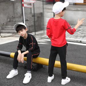 童装男童春秋装帅气卫衣套装2019新款大儿童运动12男孩韩版潮衣