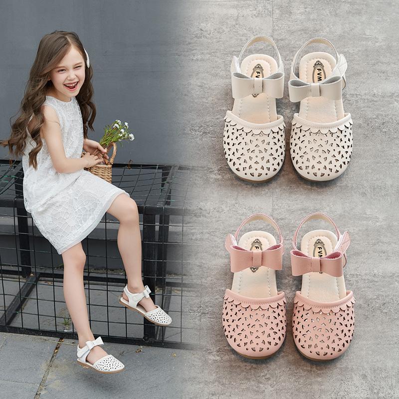 女童鞋包头凉鞋2020年新款时尚小童公主宝宝小女孩软底中大童夏季