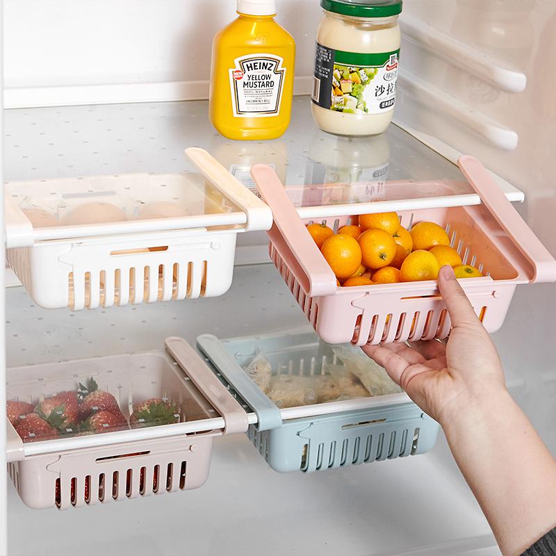 抽屉式冰箱鸡蛋收纳盒可伸缩厨房用品家用大全食品保鲜收纳篮托盘
