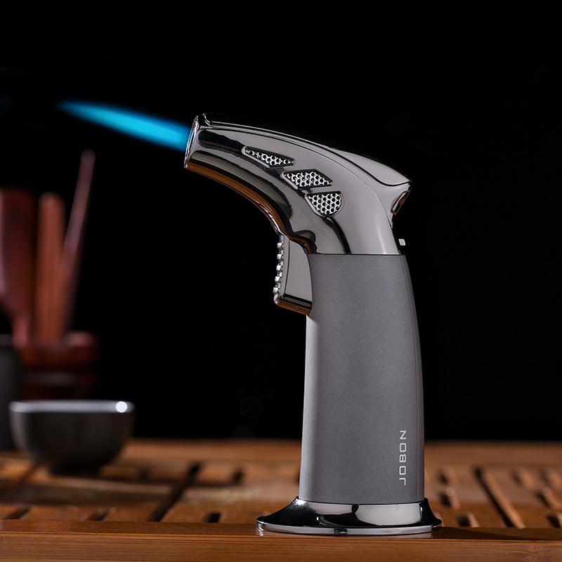 高档充气打火机防风超薄男士雪茄烟斗专用打火机气体个性创意直冲