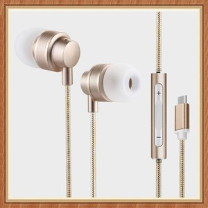 CC for Xiaomi Huawei Music Pro3 Nut Pro Metal Wire Control with Wheat type-c in-ear braided wire headset