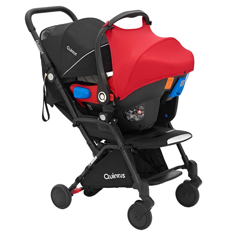 德国quintus昆塔斯提篮式安全座椅推车新生婴儿可坐躺轻便折叠