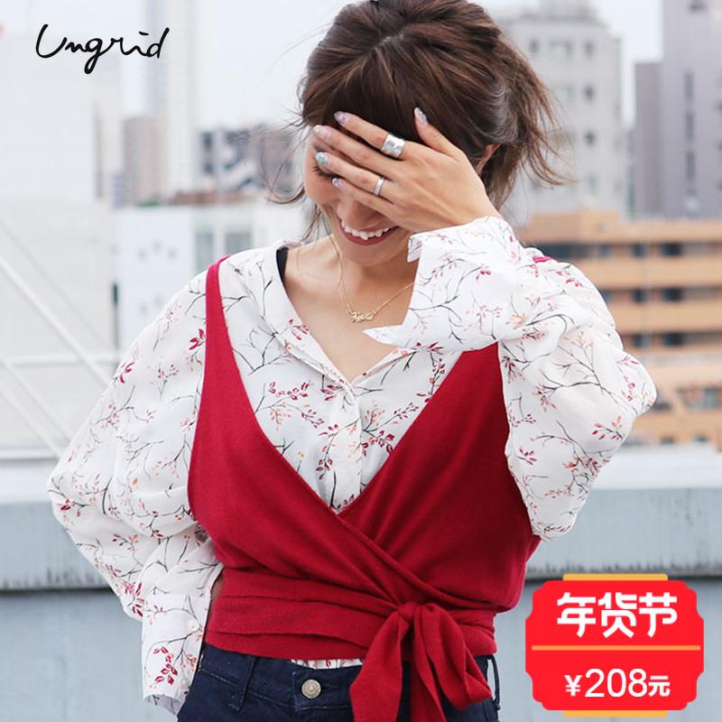 Ungrid  17新款 复古系腰日系小背心女式马甲  日本官网直邮