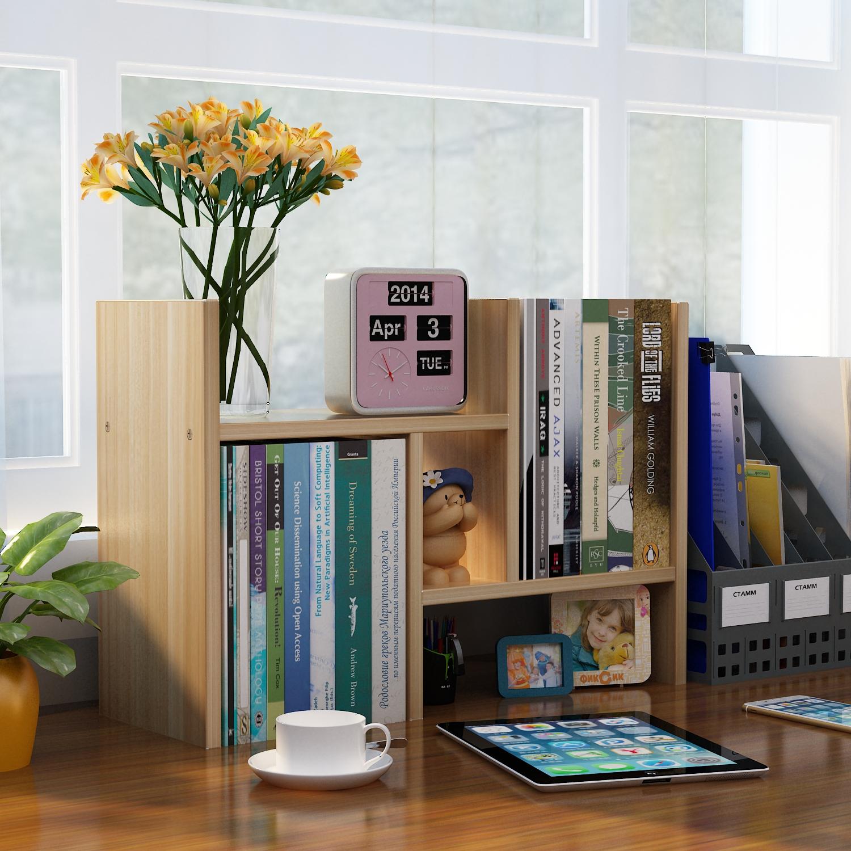 桌上置物架桌面儿童书柜简易简约现代学生收纳架办公桌面格架书架