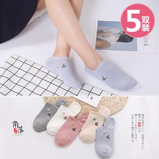 船袜卡通短袜日系可爱低帮纯棉短筒袜夏天浅口隐形棉袜薄款袜子女