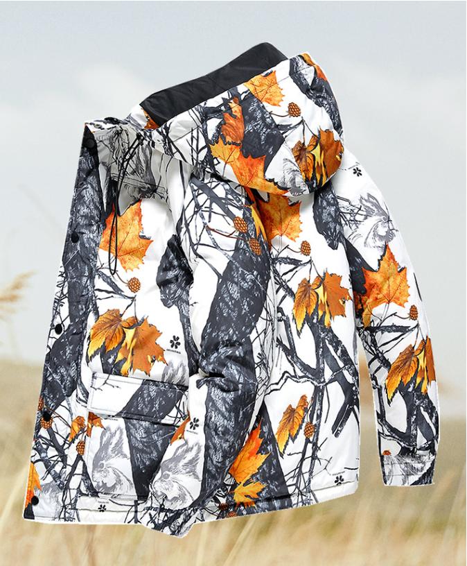 马克华菲羽绒服男短款2020新款冬季爆款潮流连帽男装男士迷彩外套